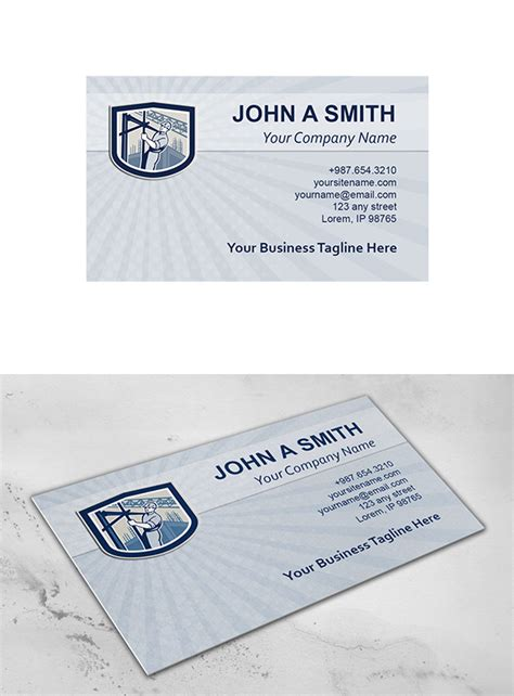 shield business card template business card template construction business card