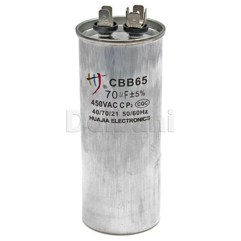 check capacitor ac cbb65 air conditioner ac electric motor run capacitor huajia 6 pins 70uf 450v ebay