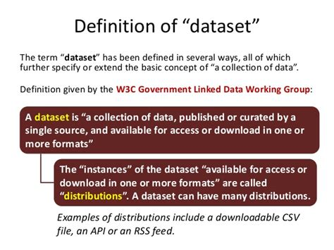a setter definition definition of data sets