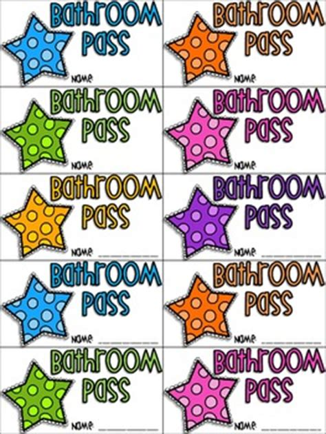 student bathroom passes bathroom pass freebie by all students can shine tpt