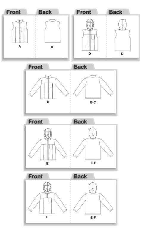 sewing pattern gilet mccall s 5252 sewing pattern to make unisex fleece jackets