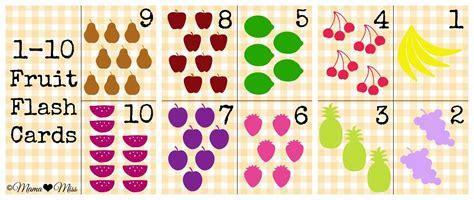 printable number cards 1 10 1 10 free fruit flash cards kids children love teach