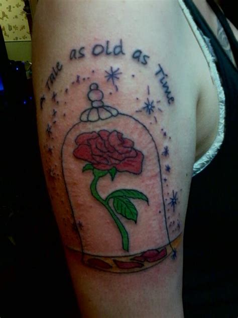 enchanted rose tattoo enchanted and quote tattoomagz