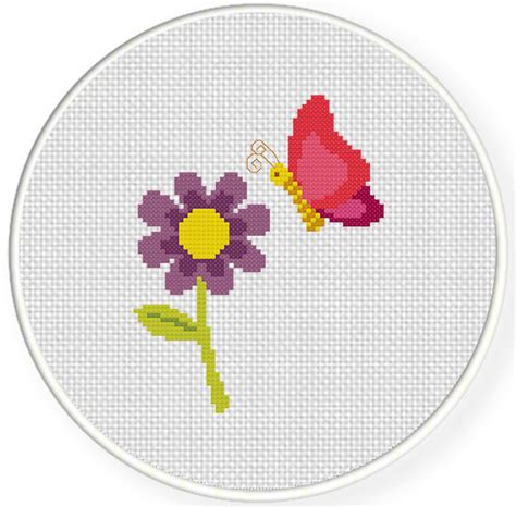 flower pattern cross stitch butterfly and flower cross stitch pattern daily cross stitch