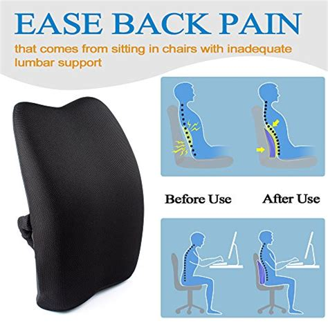 lower back support pillow for bed orthopedic memory foam lumbar back support cushion pillow for import it all