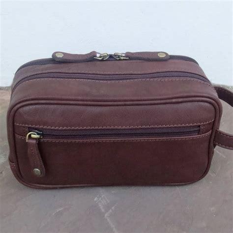 Handmade Wash - handmade premium leather wash bag by