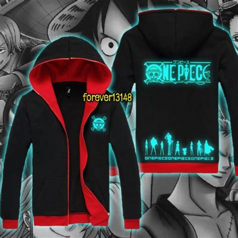 Sweater One Luffy anime one luffy zoro nami luminous jacket hoodie unisex coat tops n tm28 awesome