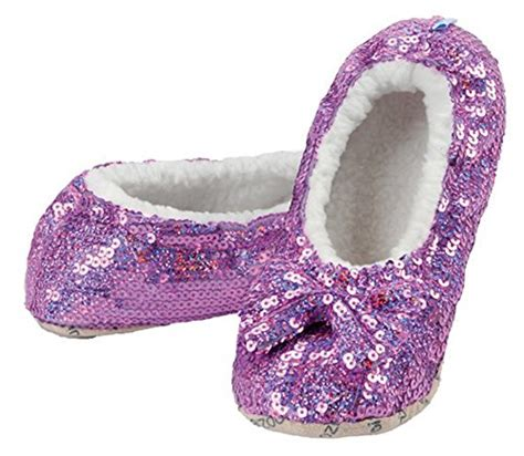 snoozies sequin slippers snoozies womens sequin glam slippers with split comfort
