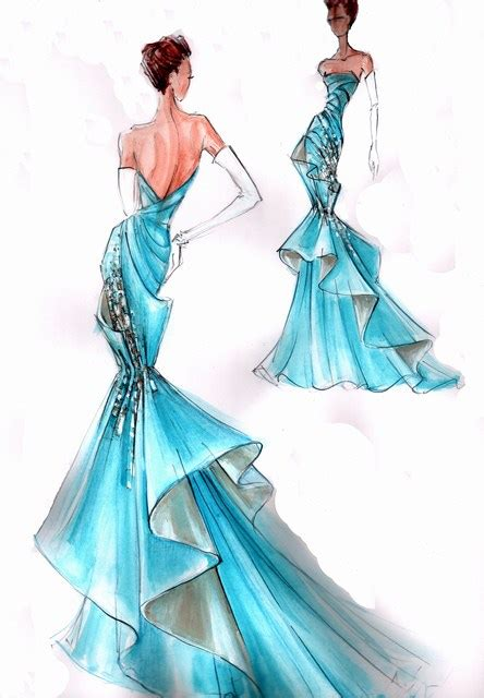 Gorgeous Fashion Illustrations by Blanka Matragi Sketch Of Dresses Luxussilk