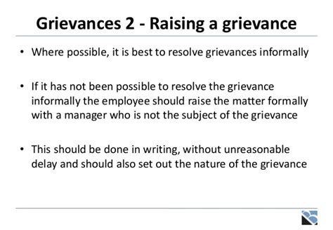raising a grievance letter template disciplinaries grievances and settlement discussions