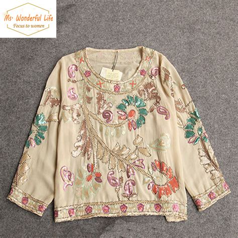 Handmade Shirts - aliexpress buy handmade embroidery summer chiffon