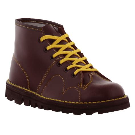 grafters original 60s monkey boots mens womens black red - Free Monkey Boots