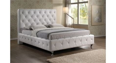 stella crystal tufted white modern bed with upholstered headboard vino white modern bed with upholstered headboard queen