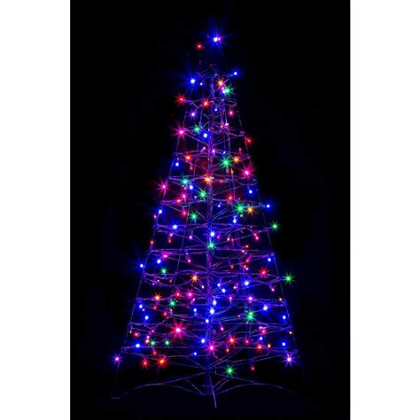 artificial christmas tree with led lights crab pot trees 4 ft pre lit led fold flat outdoor indoor