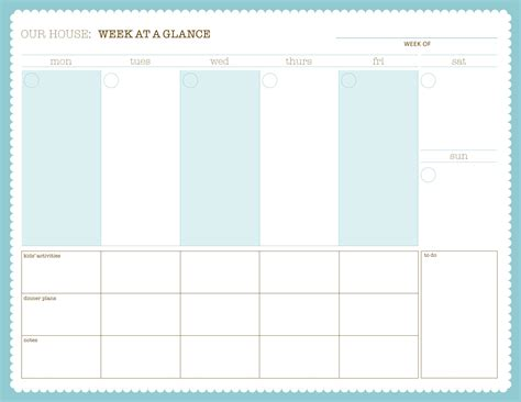 week at a glance template calendar month at a glance printable search results