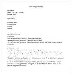 Employee Resign Letter by 13 Employee Resignation Letter Templates Free Sle