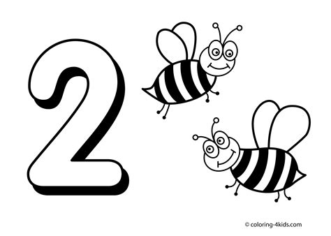 number 2 coloring page lofty design free printable number coloring pages 1 10