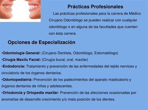 plan de estudios facultad de odontologa odontologia