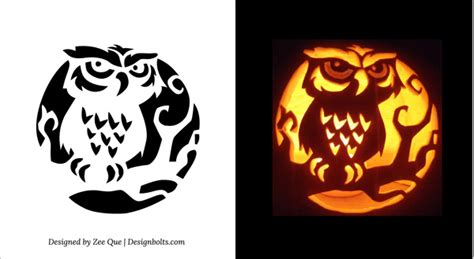 printable owl pumpkin carving patterns 10 free printable scary pumpkin carving patterns stencils