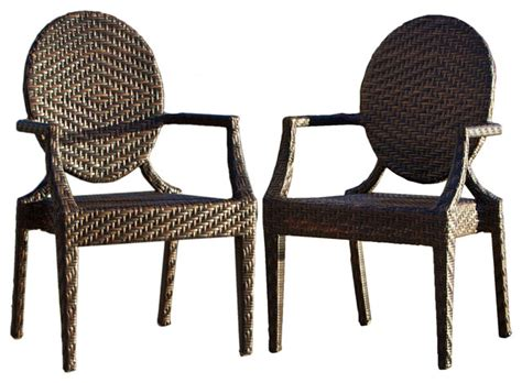 Outdoor Dining Chairs Houzz Townsgate Outdoor Armchairs Set Of 2 Contemporary