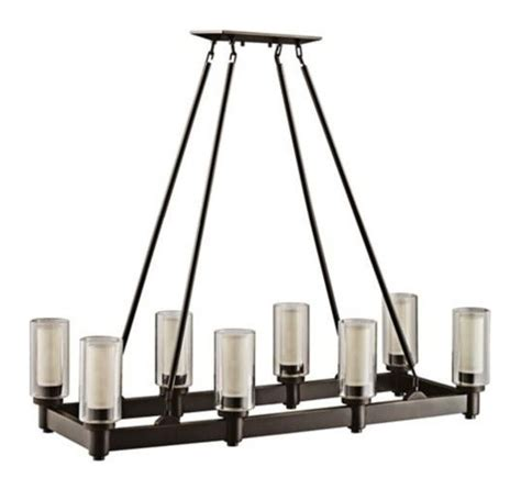 shop kichler menlo park 12 01 in olde bronze wrought iron circolo collection olde bronze rectangle chandelier