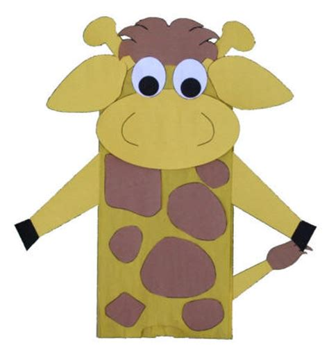 Dltk Paper Crafts - paper bag giraffe craft