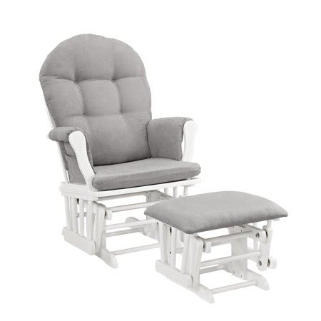 grey and white ottoman line glider and ottoman white finish and