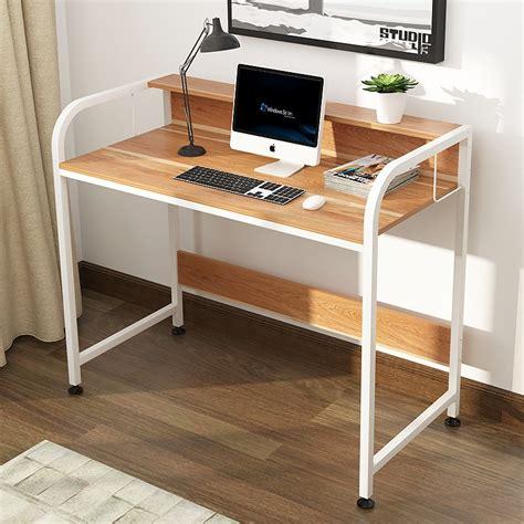 simple modern desktop home office computer desk laptop table computer table standing desk office