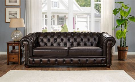 Albany Upholstery by Albany Brown Leather Living Room Set From Amax Leather