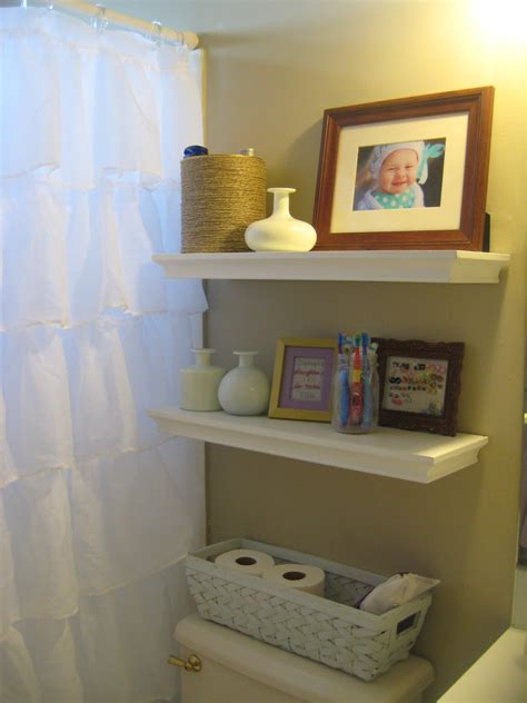 shelves bathroom storage my kids eat off the floor my pinterest inspired bathroom