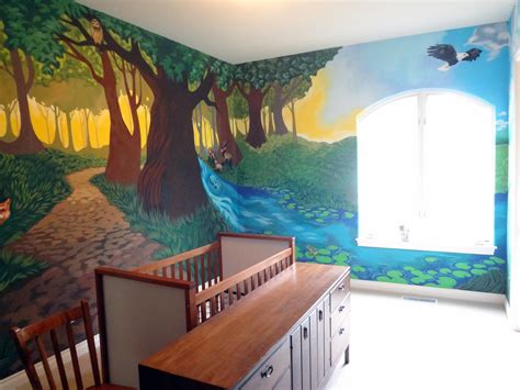 room mural the talking walls fantastical forest nursery mural d o n e