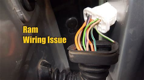 dodge ram wiring issue   youtube