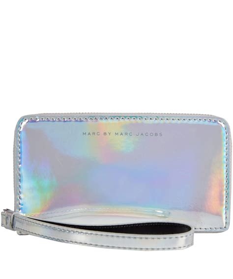 Jeslyn Wallet marc by marc silver holographic from liberty