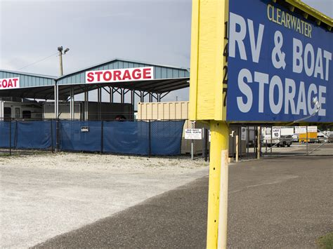 Storage Units In Clearwater Fl by Clearwater Boat Rv Storage Covered And Open Storage