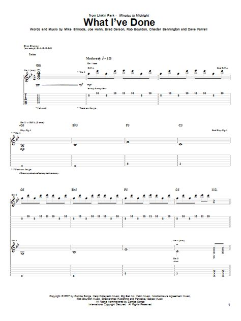 what ive done what i ve done sheet music direct