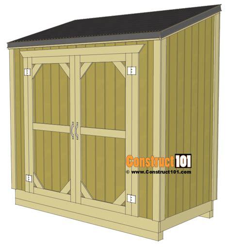 lean  shed plans  step  step plans construct