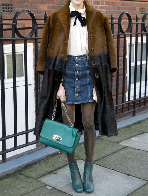 how to wear a denim skirt in winter instyle