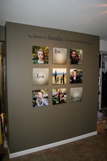 ideas for displaying pictures on walls family wall photo display ideas quotes