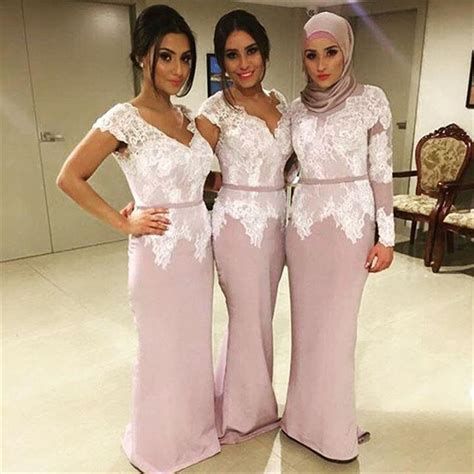 Kebaya Rosela Pink muslim bridesmaid dress 2016 formal wedding guest