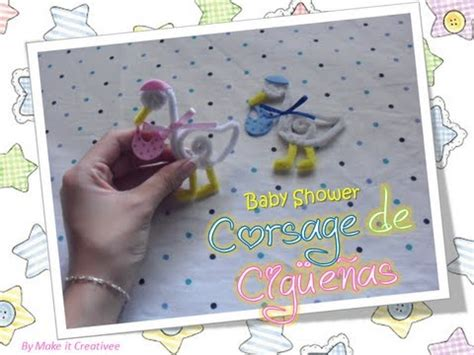 Cigueñas Para Baby Shower by Baby Shower Corsage De Cigue 241 As