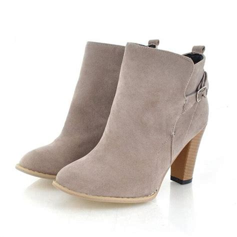Boot Ankle grey ankle boots with heel yu boots