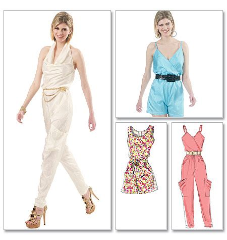 simple jumpsuit pattern mccall s 6362 misses jumpsuits in two lengths and sash