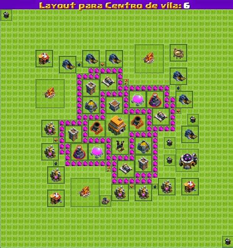 layout cv nvl 6 dicas clash of clans layouts cv nivel 6