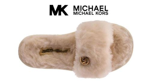 mk house shoes nib michael kors jet set mk slide slippers pink with gold accents size 8