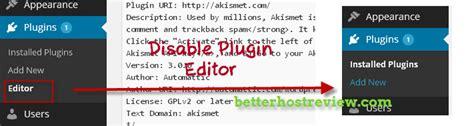 wordpress theme editor disable disable wordpress theme editor and plugin editor