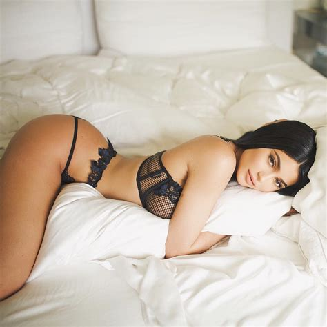 hot bed kylie jenner shares provocatively sexy lingerie photo from bed