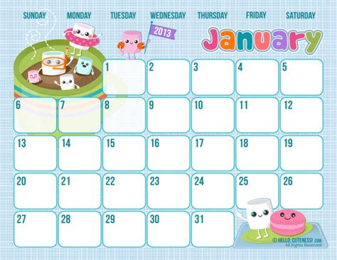 printable monthly calendars cute butterfly kisses of love free cute printable january