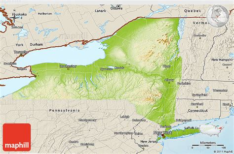 physical map of new york physical 3d map of new york shaded relief outside