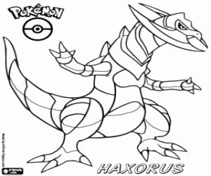 pokemon coloring pages haxorus a pokemon dragon haxorus coloring page printable game