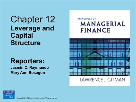 Mba Ppt On Capital Structure by Financal Management Ppt By Finmanleverage And Capital